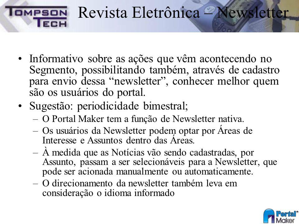 Revista Eletrônica – Newsletter
