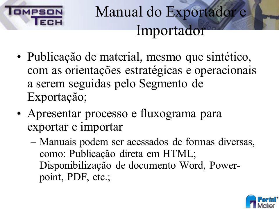Manual do Exportador e Importador