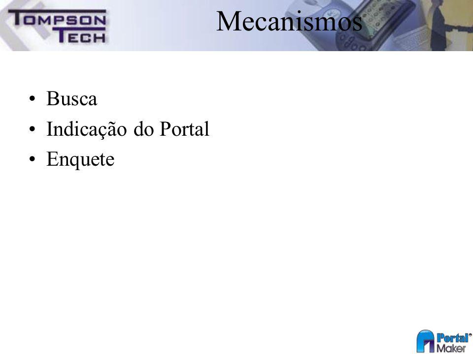 Mecanismos Busca Indicação do Portal Enquete