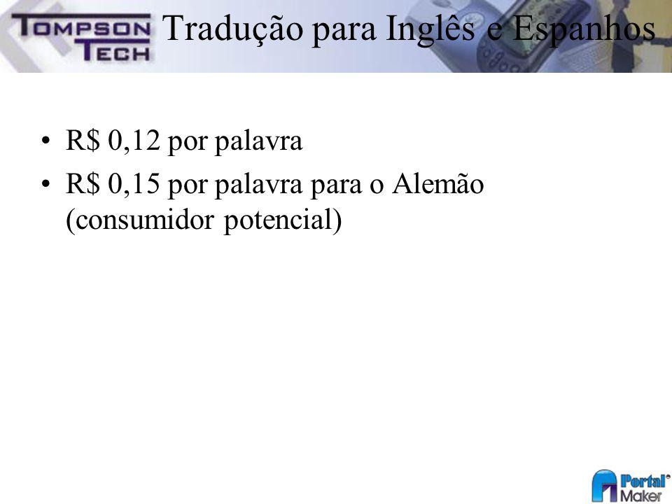 Tradução para Inglês e Espanhos