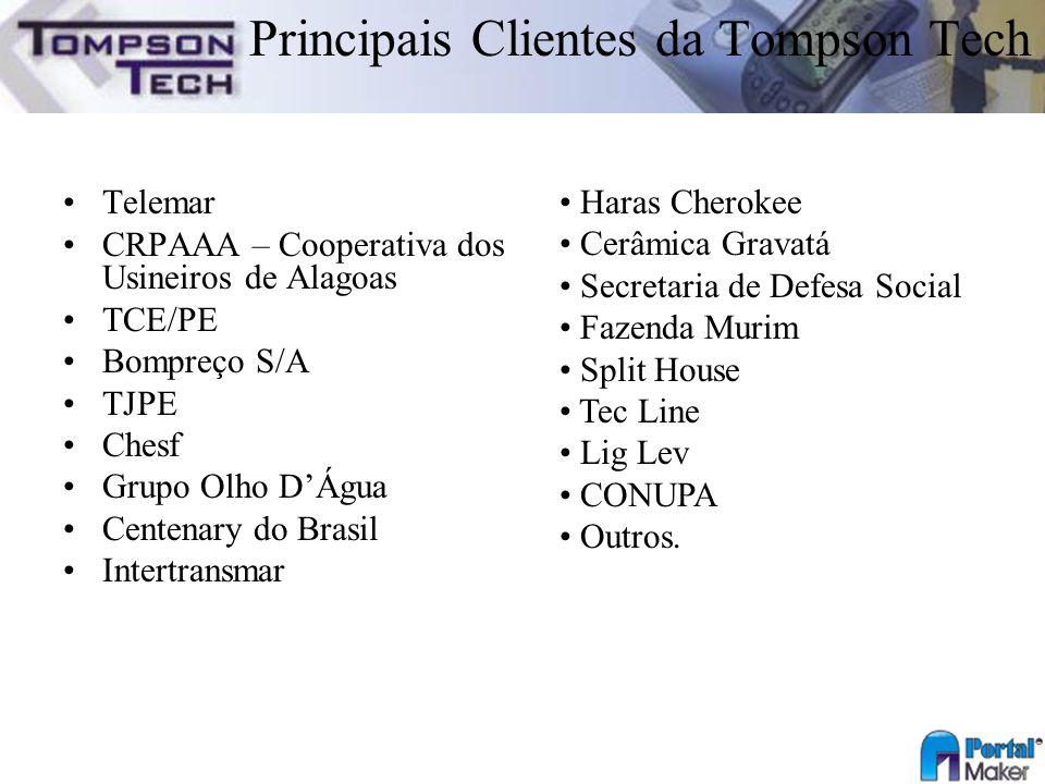Principais Clientes da Tompson Tech
