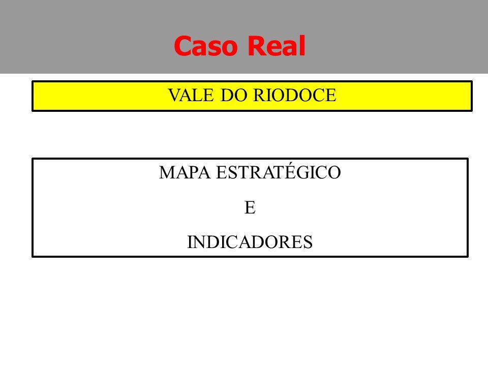 Caso Real VALE DO RIODOCE MAPA ESTRATÉGICO E INDICADORES