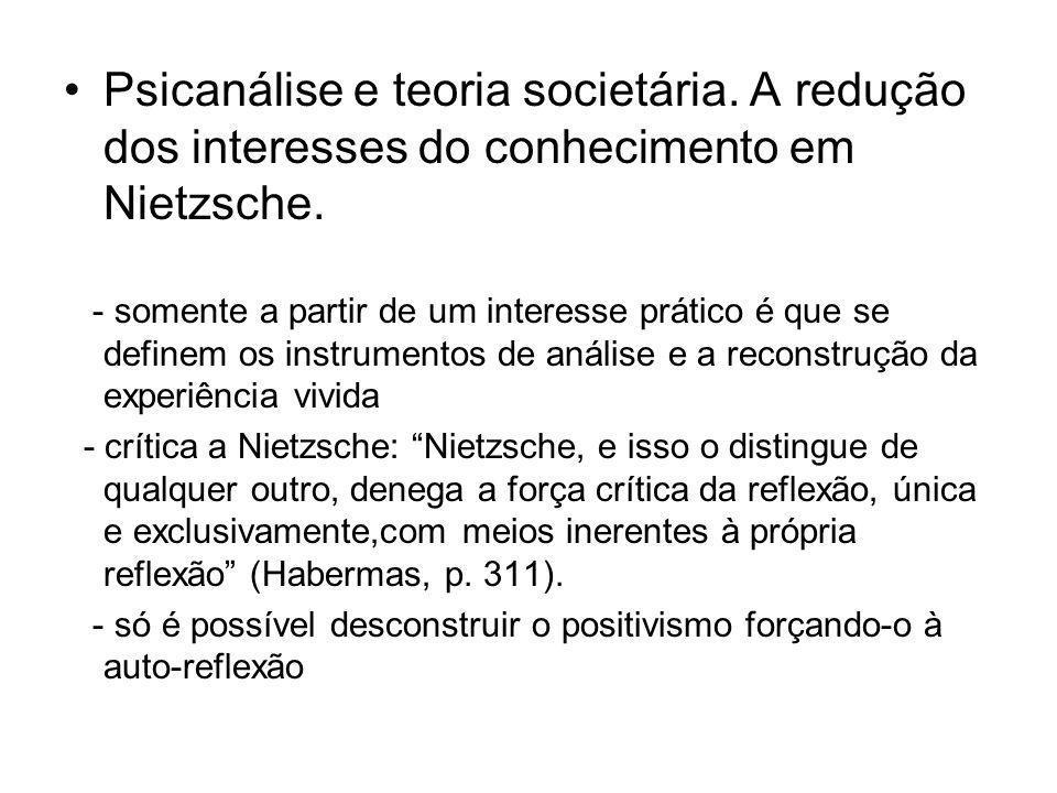 Psicanálise e teoria societária