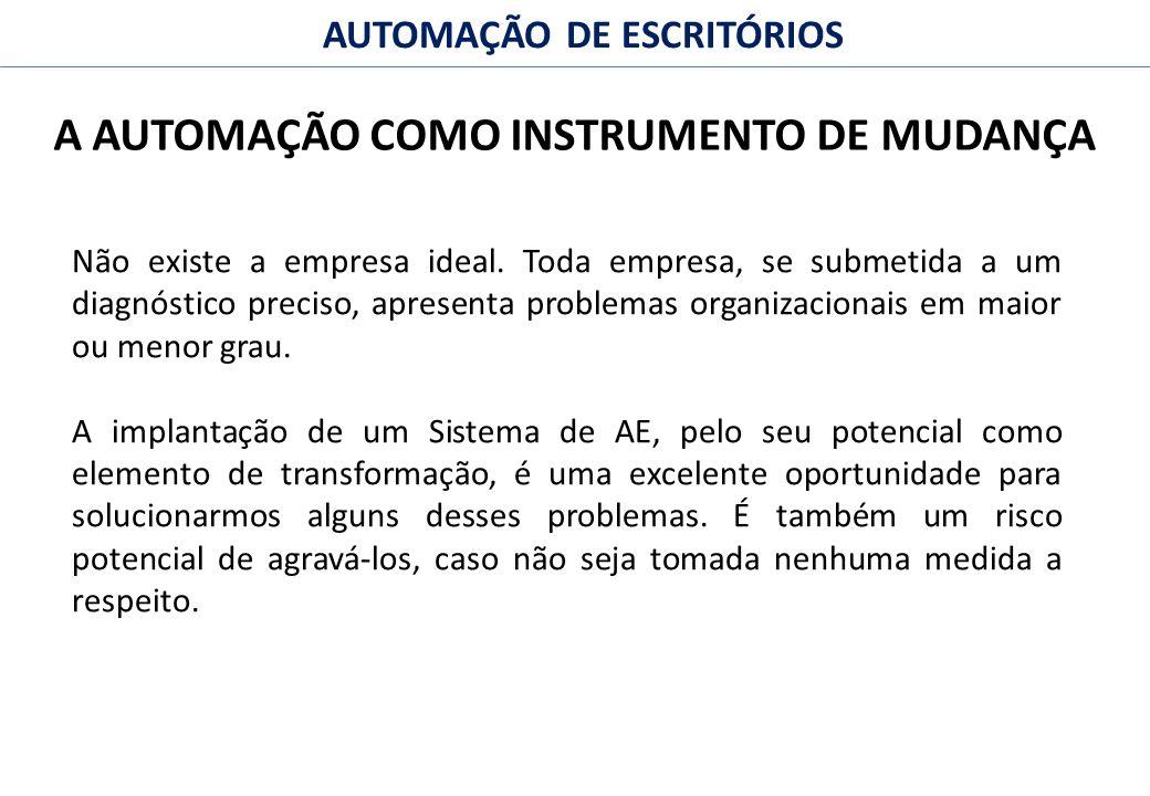 A AUTOMAÇÃO COMO INSTRUMENTO DE MUDANÇA