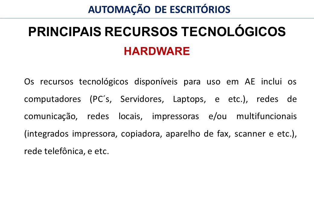 PRINCIPAIS RECURSOS TECNOLÓGICOS