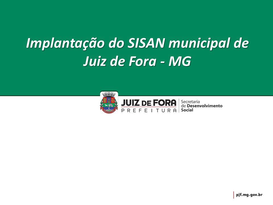 Implantação do SISAN municipal de Juiz de Fora - MG