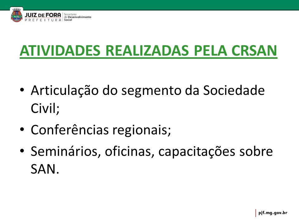 ATIVIDADES REALIZADAS PELA CRSAN