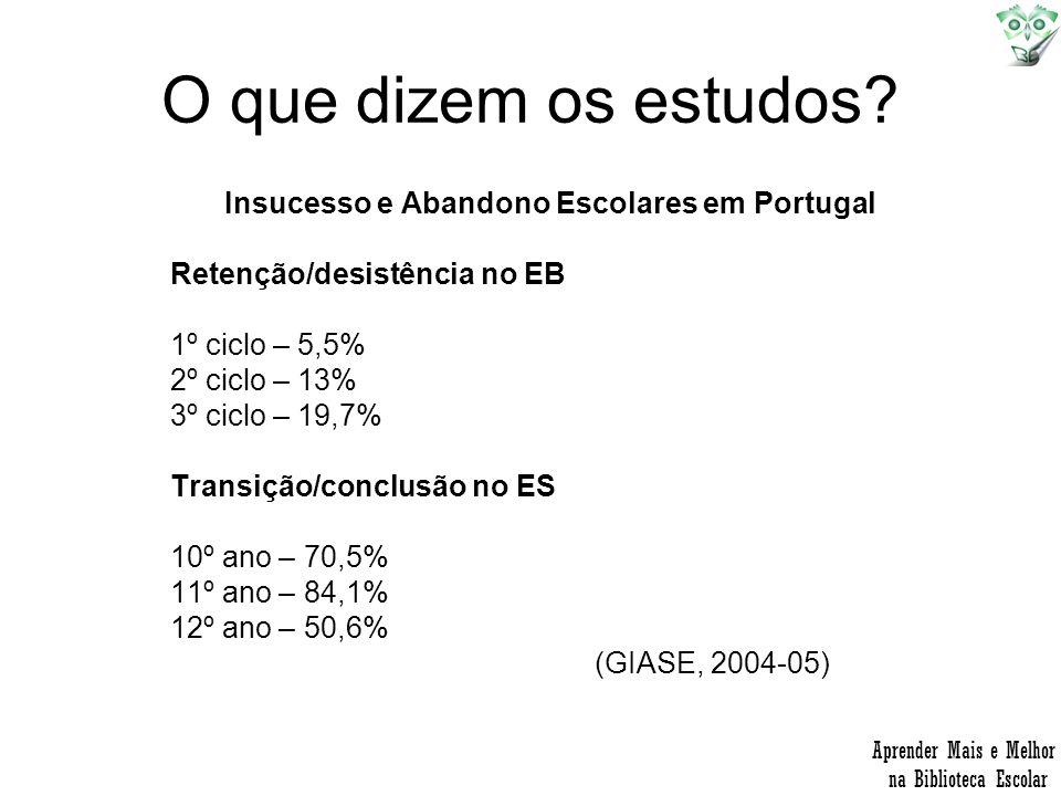 Insucesso e Abandono Escolares em Portugal