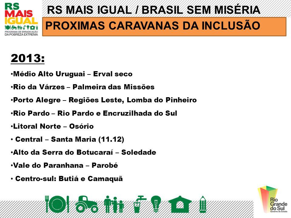 RS MAIS IGUAL / BRASIL SEM MISÉRIA PROXIMAS CARAVANAS DA INCLUSÃO