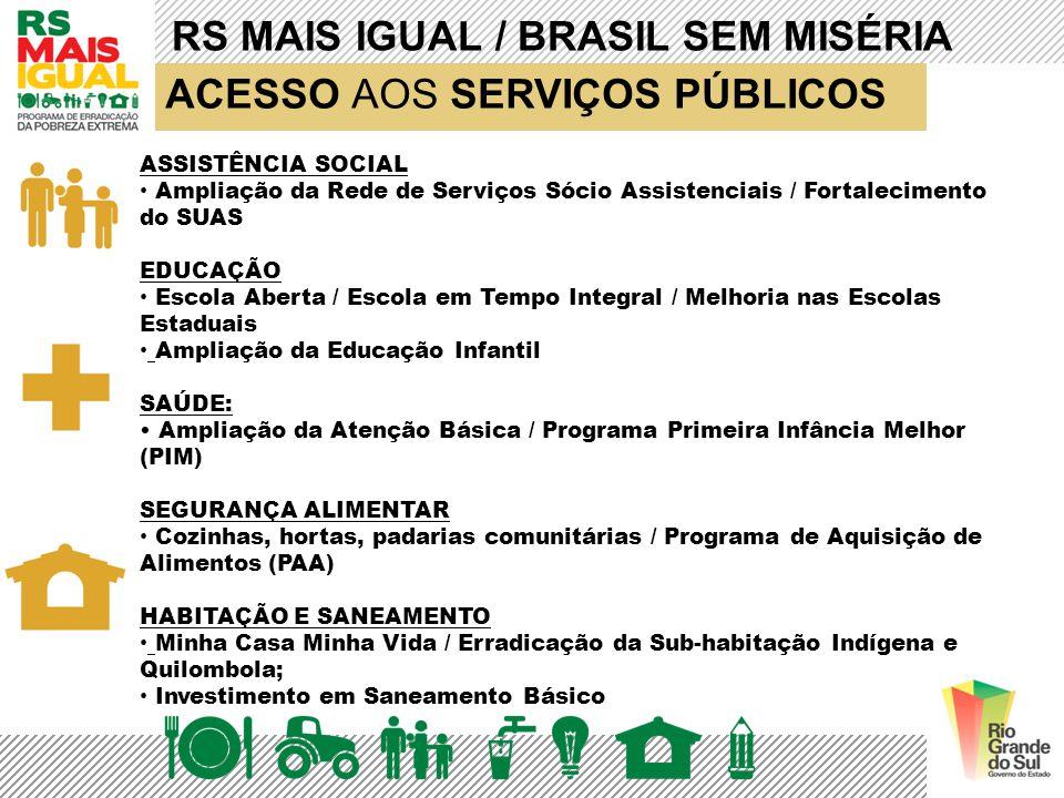 RS MAIS IGUAL / BRASIL SEM MISÉRIA ACESSO AOS SERVIÇOS PÚBLICOS