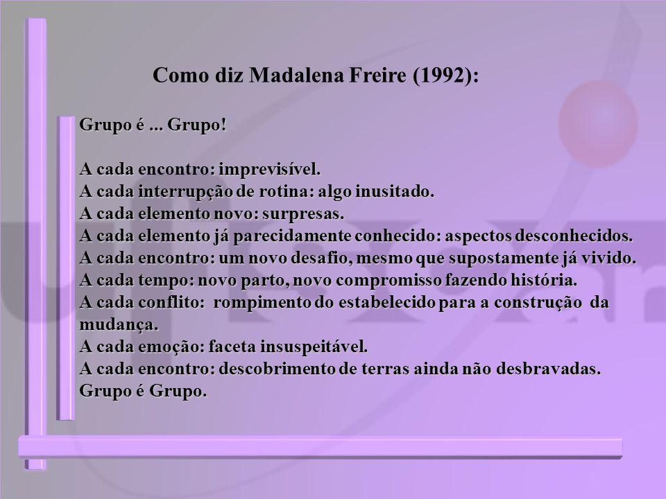Como diz Madalena Freire (1992):