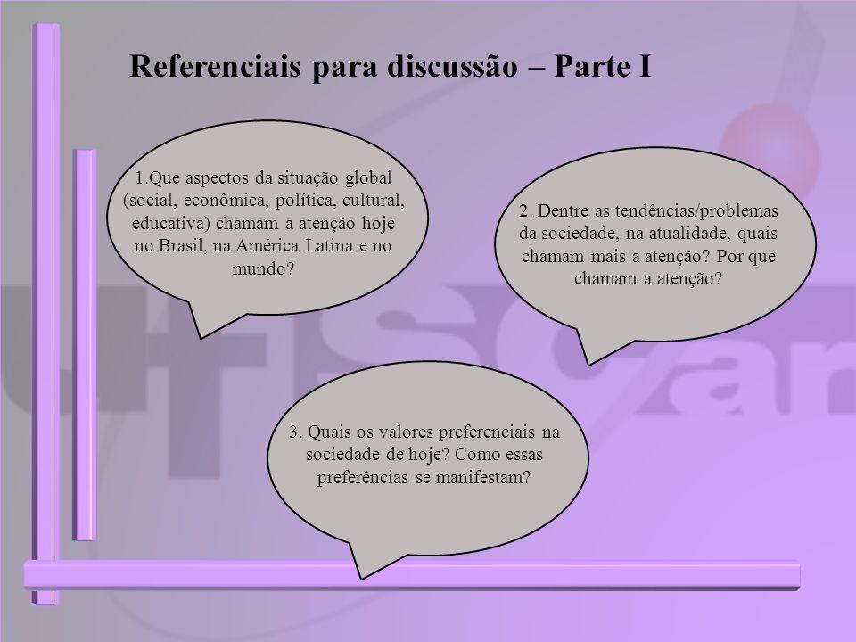 Referenciais para discussão – Parte I