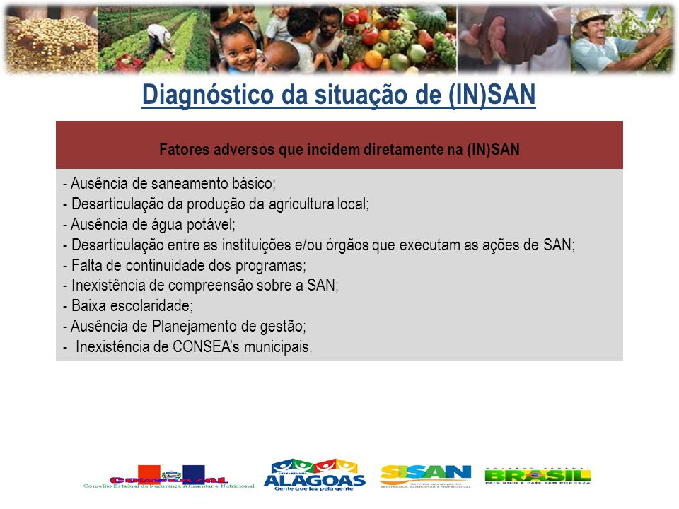 Diagnóstico da situação de (IN)SAN