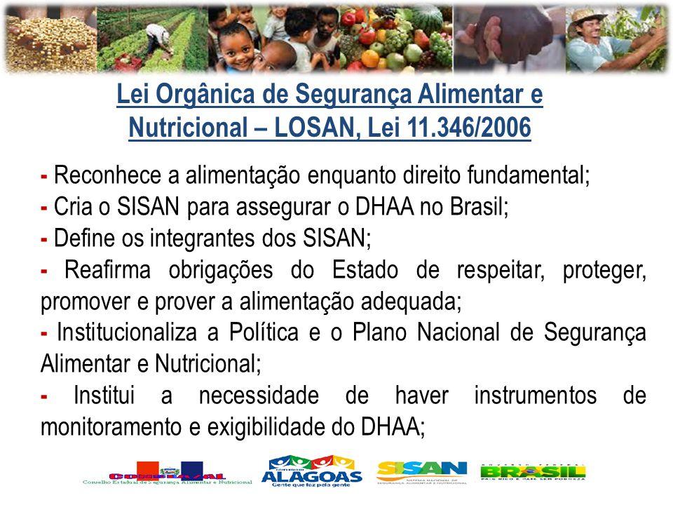 Lei Orgânica de Segurança Alimentar e Nutricional – LOSAN, Lei 11