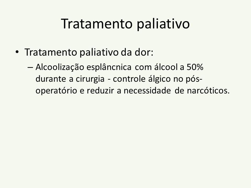 Tratamento paliativo Tratamento paliativo da dor: