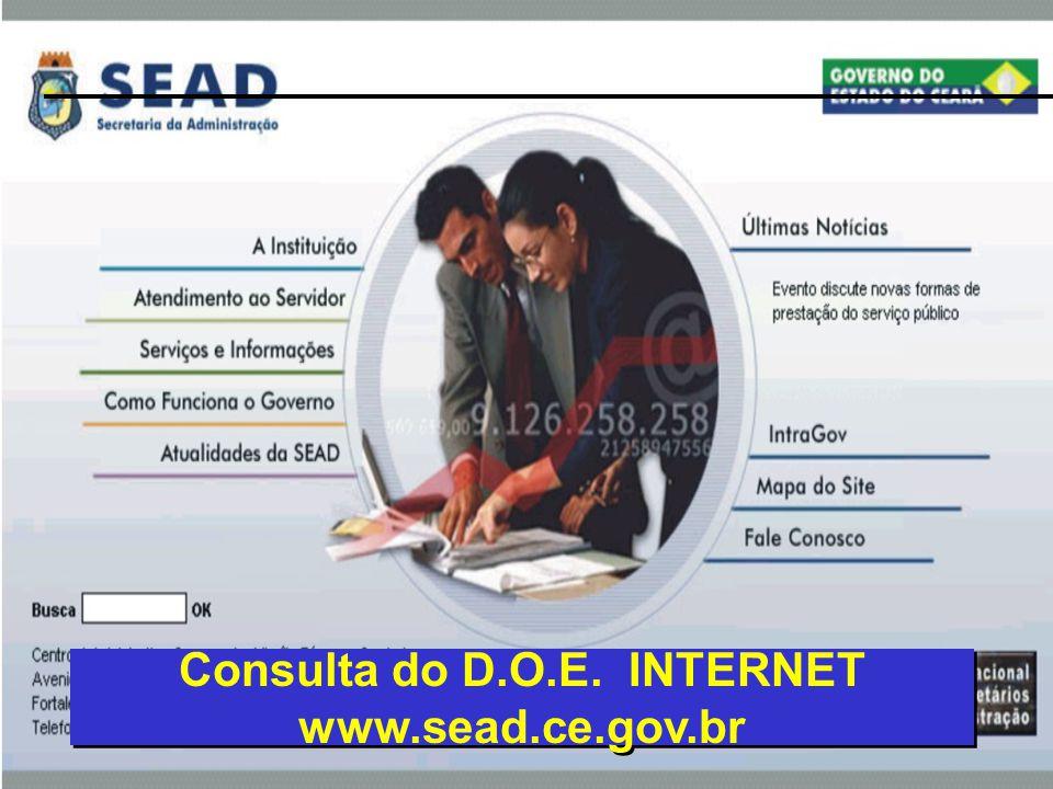Consulta do D.O.E. INTERNET