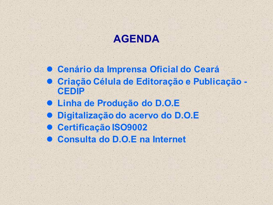 AGENDA Cenário da Imprensa Oficial do Ceará