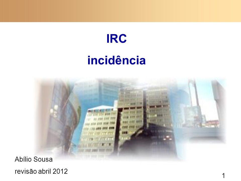 IRC incidência Abílio Sousa revisão abril 2012