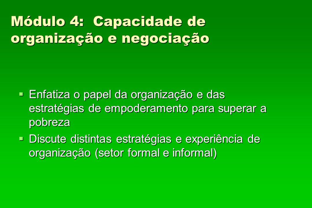 Módulo 4: Capacidade de organização e negociação