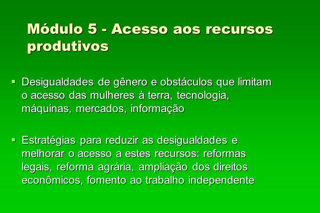 Módulo 5 - Acesso aos recursos produtivos