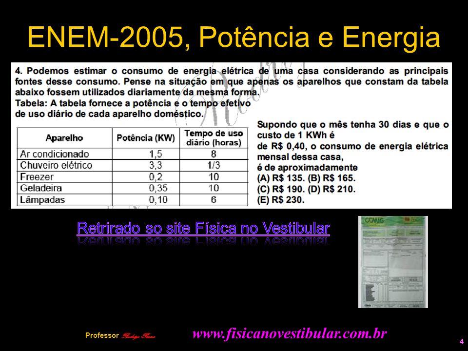 ENEM-2005, Potência e Energia