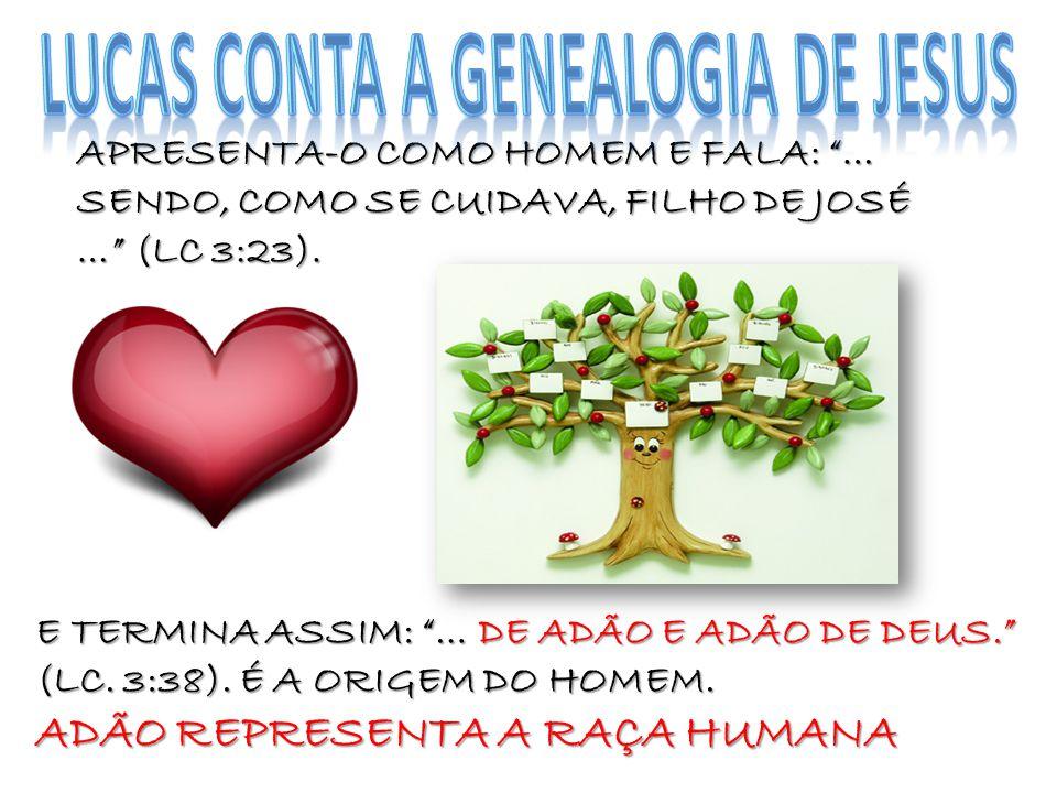 LUCAS CONTA A GENEALOGIA DE JESUS