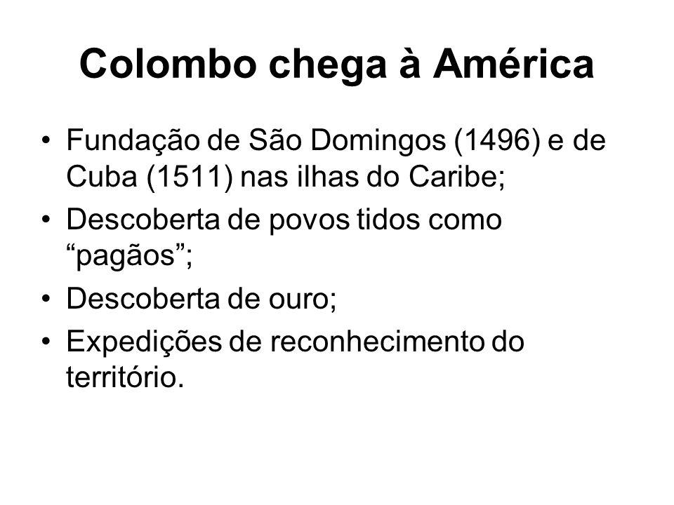 Colombo chega à América
