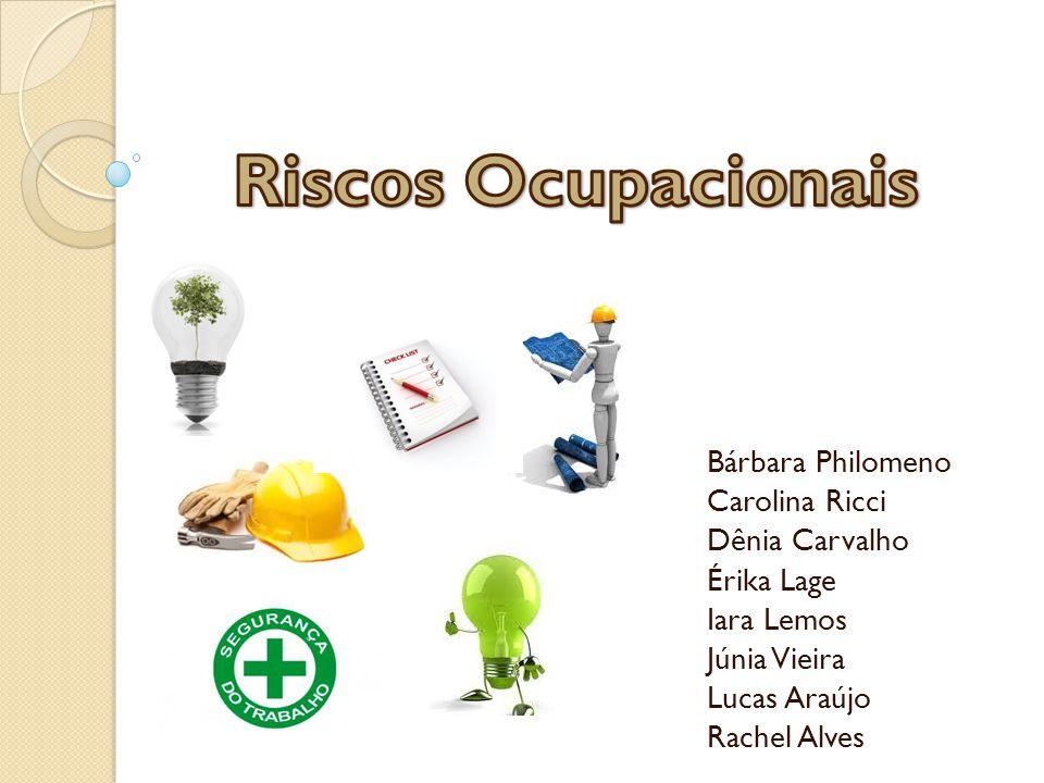 Riscos Ocupacionais Bárbara Philomeno Carolina Ricci Dênia Carvalho