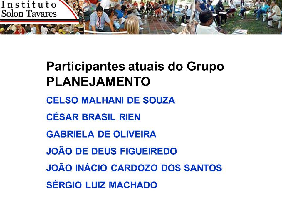 Participantes atuais do Grupo PLANEJAMENTO