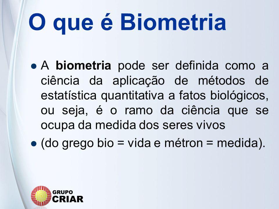 O que é Biometria