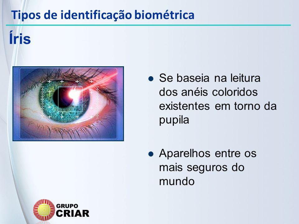 Íris Tipos de identificação biométrica