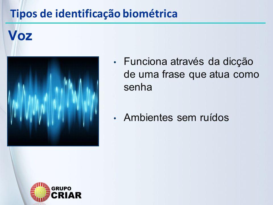 Voz Tipos de identificação biométrica