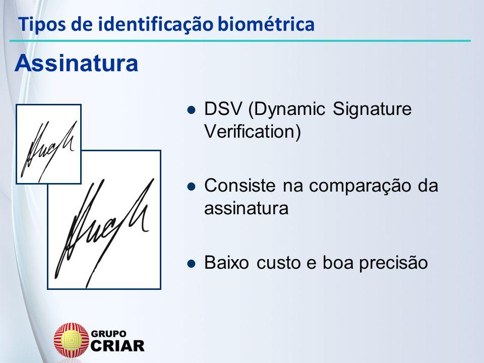 Assinatura Tipos de identificação biométrica