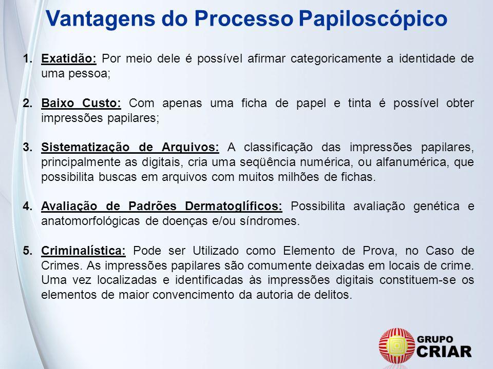 Vantagens do Processo Papiloscópico