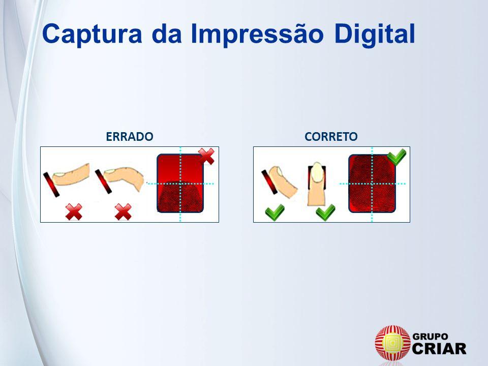 Captura da Impressão Digital