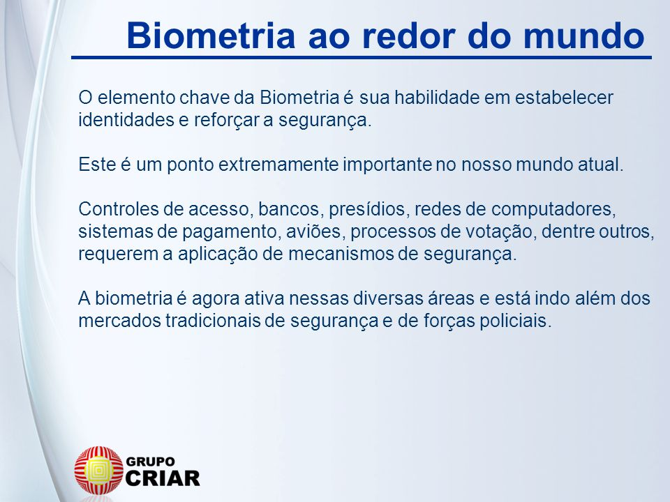Biometria ao redor do mundo