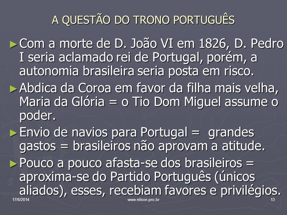 A QUESTÃO DO TRONO PORTUGUÊS
