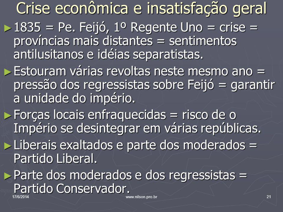 Crise econômica e insatisfação geral