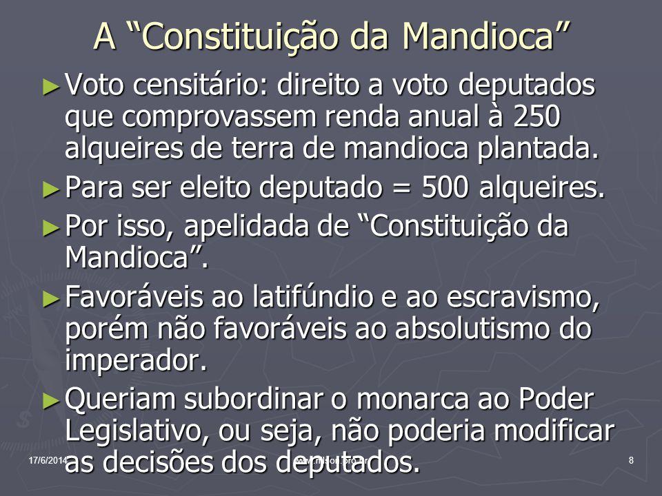 A Constituição da Mandioca