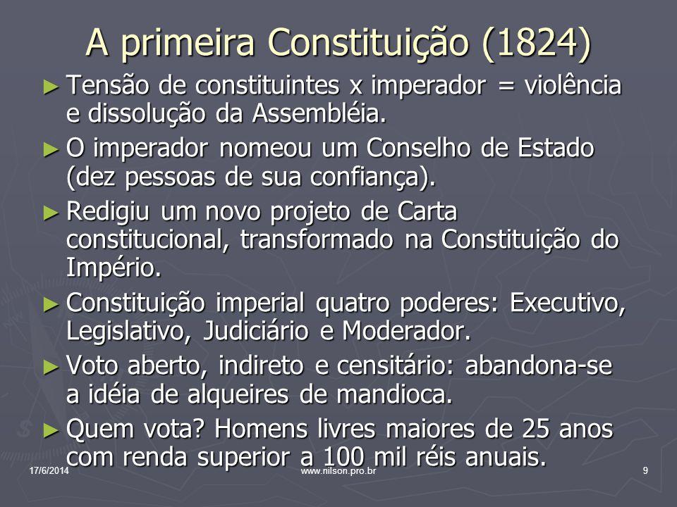 A primeira Constituição (1824)