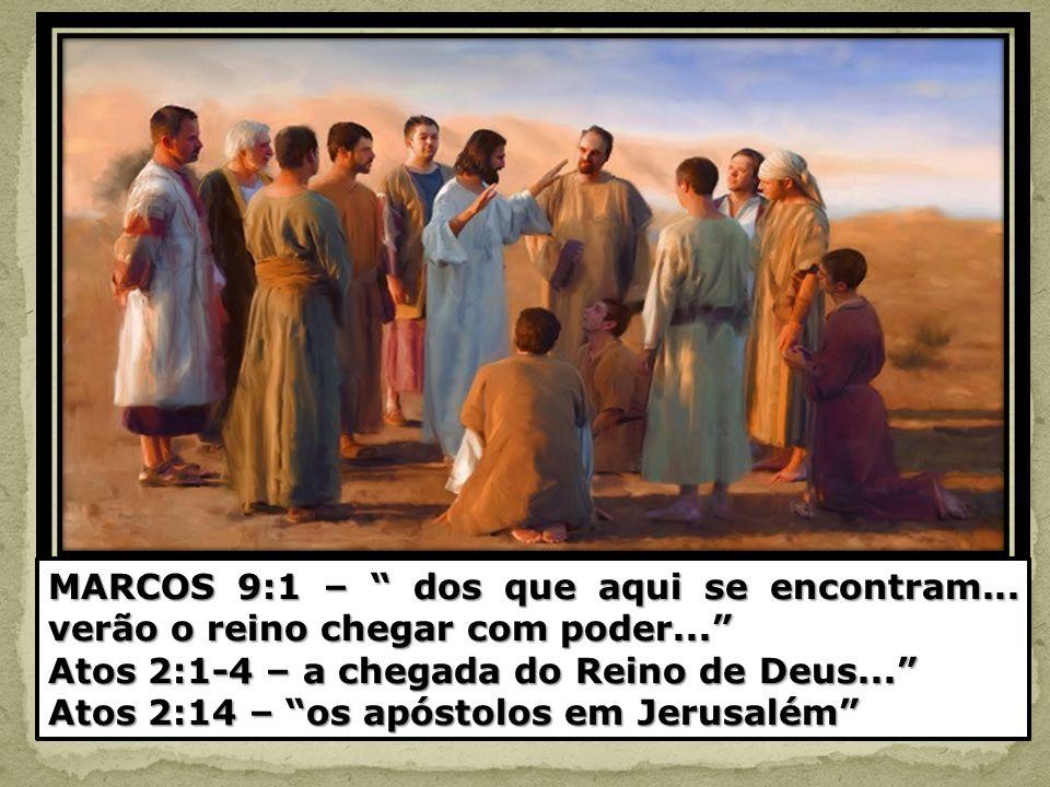 MARCOS 9:1 – dos que aqui se encontram