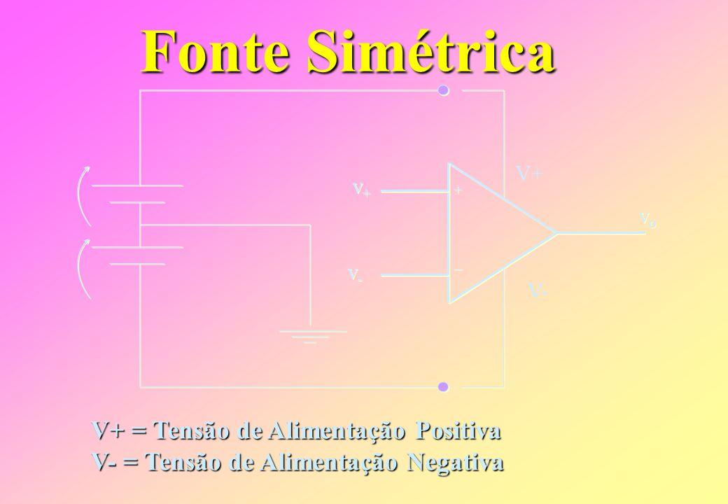 Fonte Simétrica V+ = Tensão de Alimentação Positiva