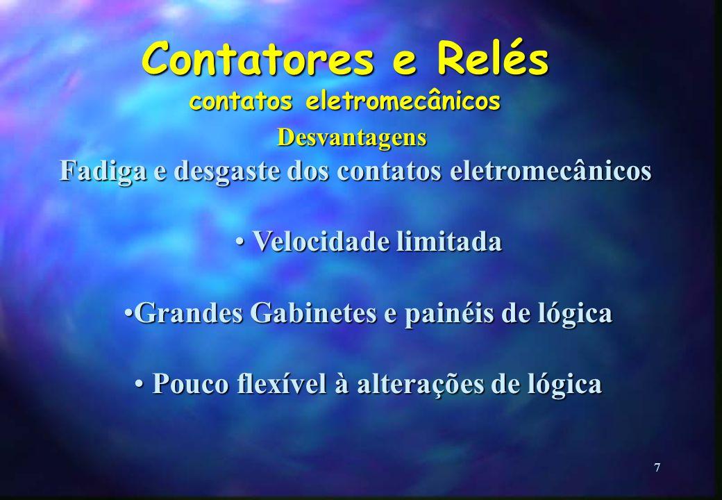 Contatores e Relés contatos eletromecânicos