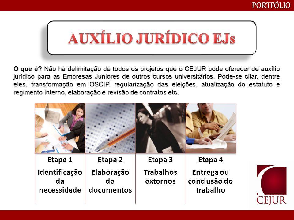 AUXÍLIO JURÍDICO EJs PORTFÓLIO Etapa 1 Identificação da necessidade