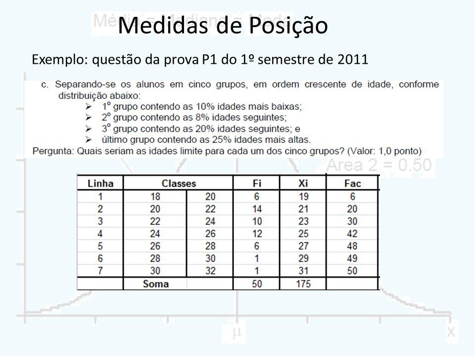 Exemplo: questão da prova P1 do 1º semestre de 2011