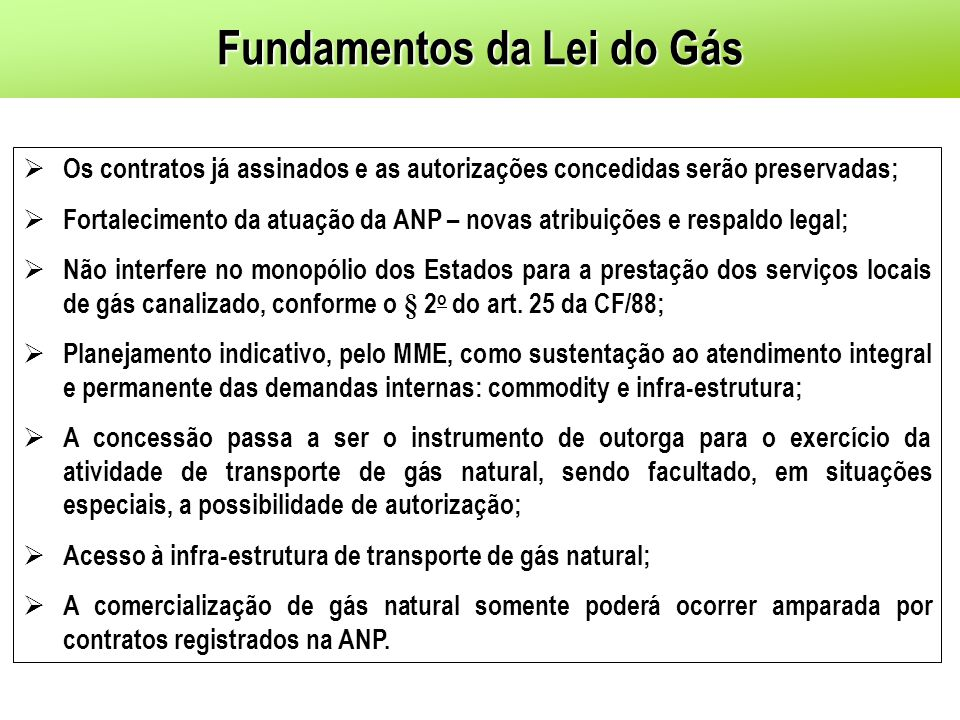 Fundamentos da Lei do Gás