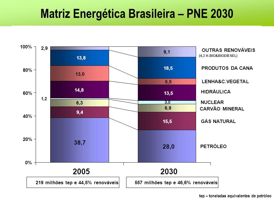 Matriz Energética Brasileira – PNE 2030