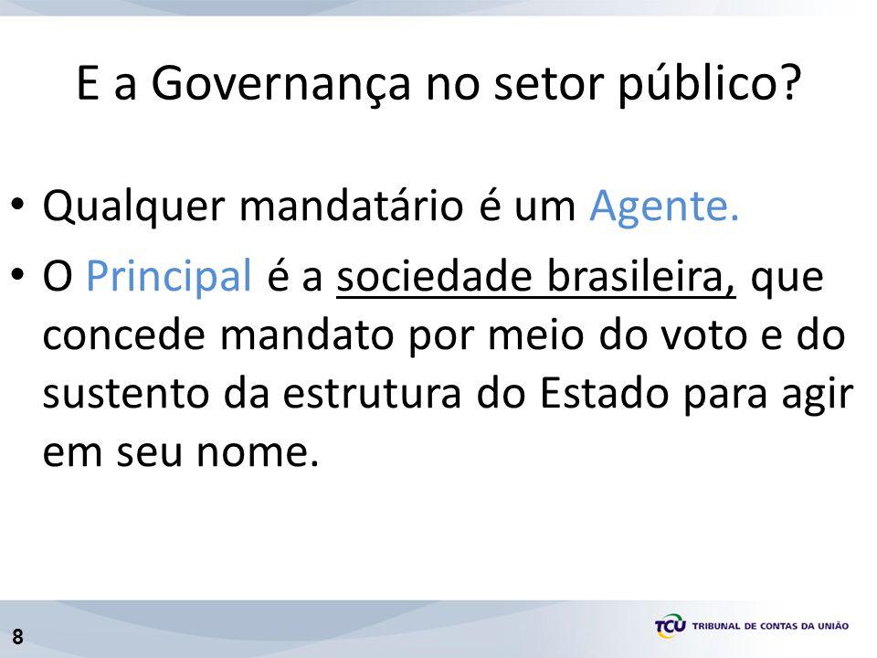 E a Governança no setor público