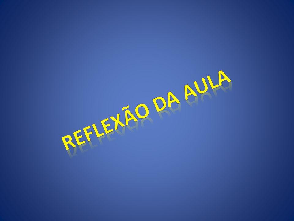 REFLEXÃO DA AULA