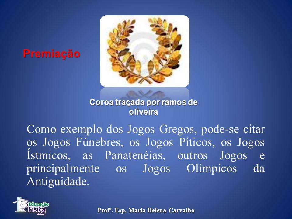 Coroa traçada por ramos de oliveira Profª. Esp. Maria Helena Carvalho